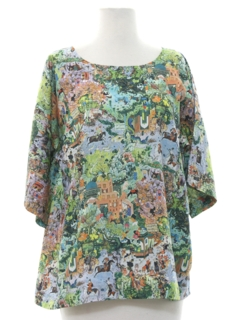 1970's Womens Photo Print Shirt