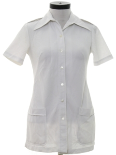 1970's Womens Uniform Nurse Shirt