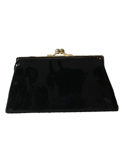 1960's Womens Accessories - Patent Leather Clutch Purse