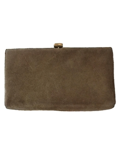 1970's Womens Accessories - Suede Leather Clutch Purse