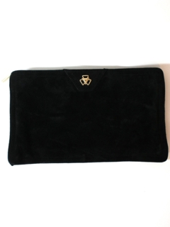 1980's Womens Accessories - Suede Leather Clutch Purse