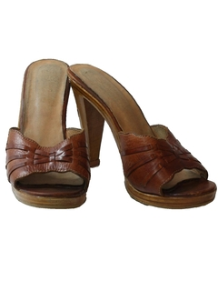 1970's Womens Accessories - Leather Heels Shoes
