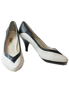 1980's Womens Accessories - Leather Totally 80s Pumps Shoes