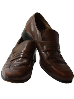 1970's Mens Accessories - Leather Loafer Shoes