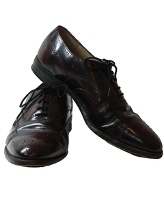 1980's Mens Accessories - Leather Wingtip Oxford Shoes