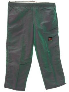 1980's Mens Totally 80s Cropped Baggy Track Pants