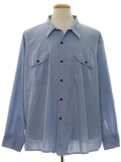 1970's Mens Chambray Work Shirt