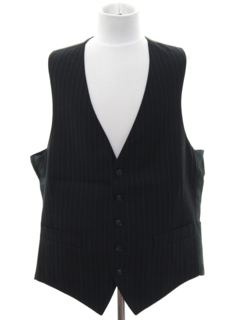 1970's Mens Pinstriped Wool Suit Vest