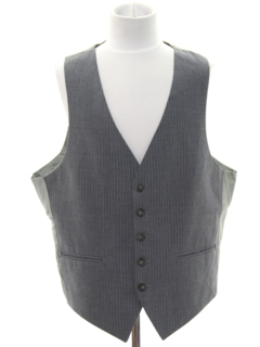 1970's Mens Pinstriped Suit Vest