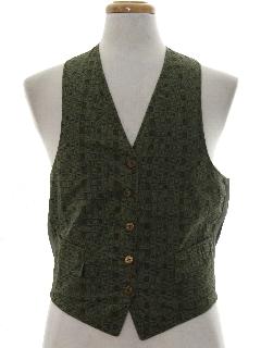 1960's Mens Reversible Mod Corduroy Suit Vest
