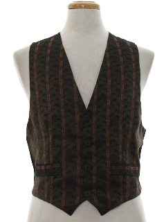 1980's Mens Totally 80s Suit Vest