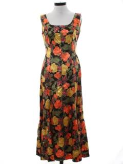 1960's Womens Maxi Dress