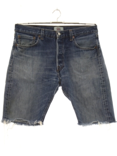 1990's Mens Levis 501 Cut Off Grunge Denim Shorts