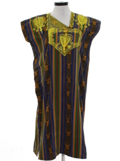 1990's Womens Ethnic Hippie Caftan Dress