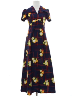 1960's Womens/Girls Hippie Maxi Dress