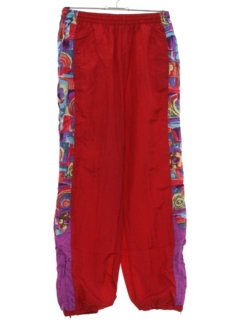 1980's Unisex Totally 80s Print Baggy Track Pants