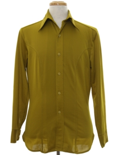 1960's Mens Superfly Solid Disco Shirt