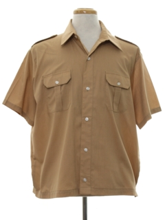 1970's Mens Mod Safari Sport Shirt