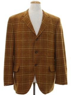 1960's Mens Wool Mod Blazer Sport Coat Jacket