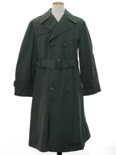 1980's Mens Overcoat Trenchcoat Jacket