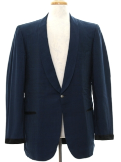 1960's Mens Mod Tuxedo Style Smoking Evening Blazer Sport Coat Jacket