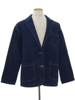 1980's Mens Denim Blazer Sport Coat Jacket