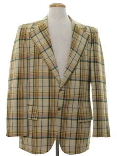 1970's Mens Plaid Blazer Sportcoat Jacket