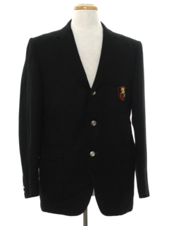 1960's Mens Wool Blazer Sport Coat Jacket