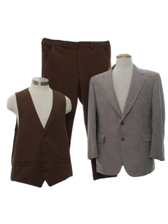 1970's Mens Combo 3 Piece Disco Suit