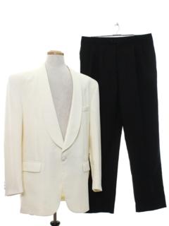 1980's Mens Designer Tuxedo Suit