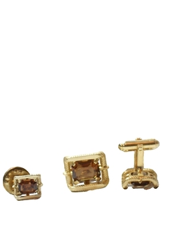 1960's Mens Accessories - Cufflinks and Tie Tack