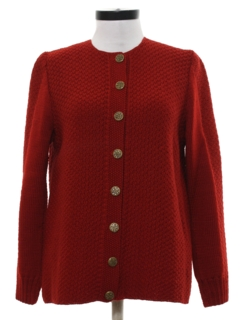 1940's Womens Fab Forties Wool Sweater