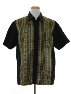 1980's Mens Asian Inspired Hippie Sport Shirt