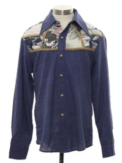 1970's Mens Western Hippie Shirt
