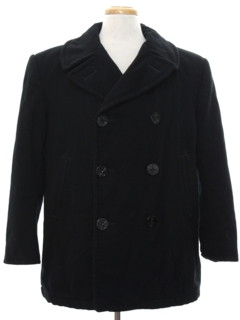 1960's Mens Navy Issue Pea Coat Jacket