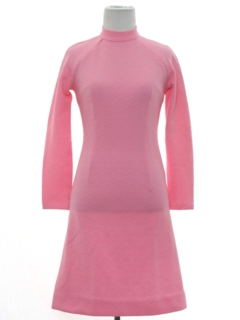 1960's Womens/Girls Mod Knit Dress