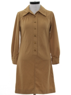 1960's Womens Knit Shift House Dress