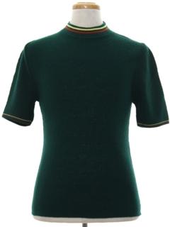 1960's Unisex Mod Knit Shirt