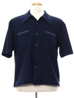 1960's Mens Mod Knit Shirt-jac Shirt