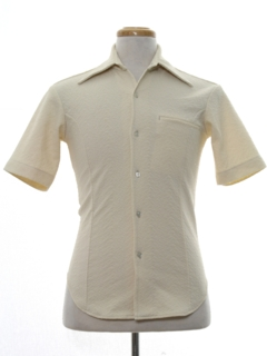 1970's Mens Mod Knit Sport Shirt