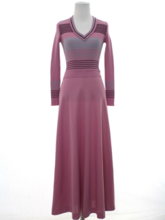 1970's Womens/Girls Knit Maxi Dress
