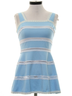 1960's Womens Mod Mini Designer Tennis Dress