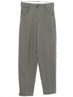1980's Mens Totally 80s Baggy Tapered Slacks Pants