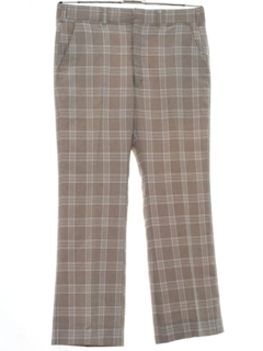1970's Mens Flared Plaid Disco Pants