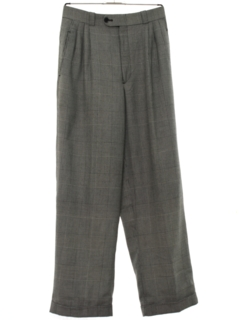 1980's Mens Totally 80s Pleated Wide Leg Slacks Pants