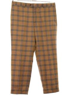 1960's Mens Mod Retro Style Burberry Designer Flat Front Slacks Pants