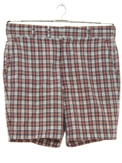 1960's Mens Mod Plaid Saturday Shorts