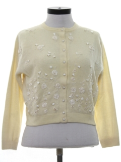 1960's Womens Beaded Cocktail Sweater