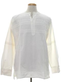 1970's Mens Hippie Poet Style Shirt
