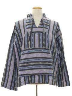 1980's Mens Guatemalan Style Baja Hippie Jacket